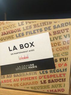 New box for the launch of the Brand Grande Epicerie Paris