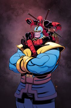 Thanos & Deadpool by Tradd Moore. - Living life one comic book at a time.