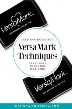VersaMark Techniques: This Ink Pad is MAGIC! This ink pad is MAGIC! Here are 5 easy VersaMark Techniques to use in your card making.This ink pad is MAGIC! Here are 5 easy VersaMark Techniques to use in your card making. Card Making Tips, Card Tricks, Card Making Tutorials, Card Making Techniques, Making Ideas, Craft Making, Card Making Inspiration, Stampin Up Anleitung, Embossing Techniques