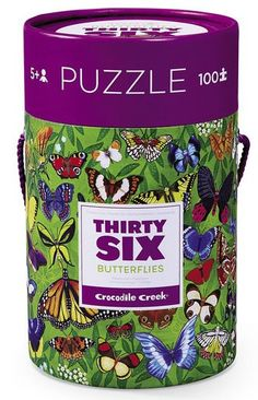 This Crocodile Creek's 100 piece floor puzzle is challenging and fun for curious children to learn the 36species of world most fascinating insects, butterflies.