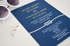 114 Best Navy Blue Wedding Invitations Images On Pinterest Wedding