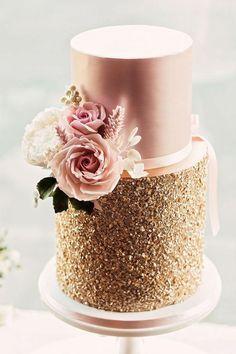 Wedding Ideas By Colour: Rose Gold Wedding Theme - Cake, Glorious Cake! | CHWV Uk Wedding Cakes, Wedding Cake Maker, Elegant Wedding Cakes, Beautiful Wedding Cakes, Wedding Cake Designs, Beautiful Cakes, Amazing Cakes, Trendy Wedding, Rustic Wedding