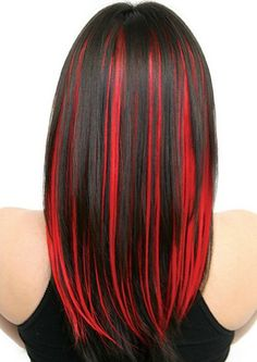 Red Streaks In Hair