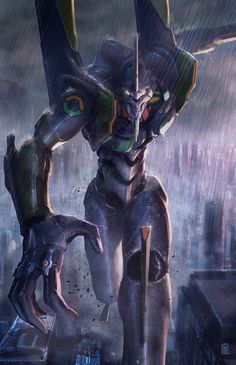 Evangelion - Tribute Eva Unit 01 by Pierre Loyvet - Portfolio - Tumblr - Facebook - Twitter