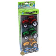 3PC TRACTORS TOYS GAME PLAY SET OF 3 ASSORTED TRACTORS GREAT GIFT PRESENT #Unbranded Games To Play, Tractors, Modern Design, Great Gifts, Presents, Toys, Ebay, Gifts, Activity Toys