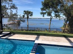 Aluminum fences are great for containment and helping to protect your family without obstructing a great view! Types Of Fences, Wrought Iron Fences, Aluminum Fence, Stair Steps, Mossy Oak, Fence Design, Great View, Swimming Pools, Modern Design