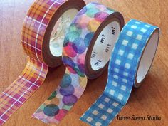 Washi tape-love the bright colors