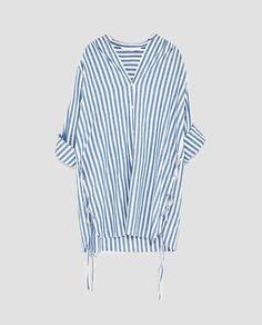 YANLARI BAĞCIKLI GÖMLEK-ÜST GİYİM-TRF | ZARA Türkiye Zara, Shirts, Collection, Tops, Women, Style, Fashion, Dress Shirt, Women's