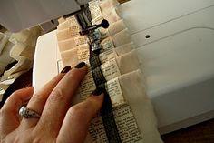 paper fabric ruffled garland - so darling