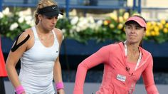 WC team Martina Hingis & Sabine Lisicki lose 1st rd match at BNPP Open to #7-Seeds Ashleigh Barty & Casey Dellacqua.  Sabine & Martina lost 6-10 in the deciding set. The #3-Seeds Sara Errani & Roberta Vinci suffered the same fate losing 6-10 in the deciding set to another WC team, Svetlana Kuznetsova & Samantha Stosur. 3/6/14