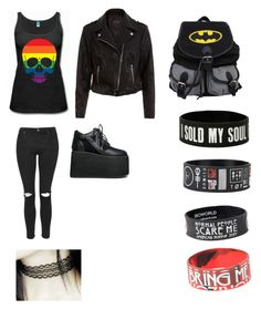 """""""Emo/scene Black pride"""" by theratchetdragon on Polyvore featuring Topshop, Y.R.U., women's clothing, women, female, woman, misses and juniors"""