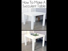 Ikea Succulent Table Hack - YouTube