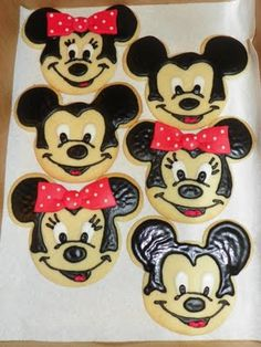 Mickey and Minnie Birthday Cookies