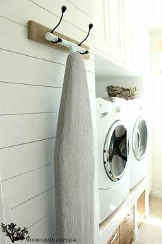 Laundry Room Plank Wall