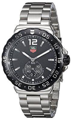 TAG Heuer Men's WAU1110.BA0858 Formula 1 Black Dial Stainless Steel Quartz Watch #best #sellers #luxury #watches