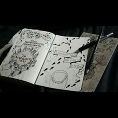 Wreck This Journal - Harry Potter - Marauders Map