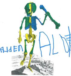 Awesome #ColorOurCollections page by Alden age 4. According to his mom Alden has loved #anatomy since age 2! #coloringbook #coloring #anatomicalart #specialcollections #librariesofinstagram by ohsuhistcoll