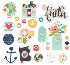 Faith Decorative Brads by Simple Stories for Scrapbooks, Cards, & Crafting found at FotoBella.com