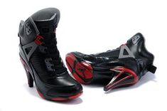 4d3325a456f All Girl Jordan Shoes | Girls Air Jordan Spiz'ike High Heel All Black Red