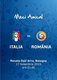 Meci de fotbal Amicalul Italia-Romania Romania, Italia