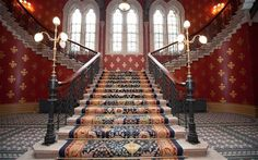 **the St Pancras Renaissance Hotel (the old Midland Grand hotel), London - grand staircase