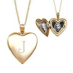 Beautiful new heart shaped engraved lockets for women available in gold and rose gold!