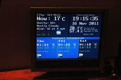 Picture of Google Weather on graphical display with Arduino