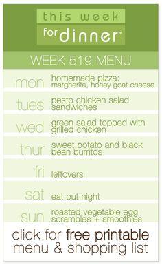 simple weekly meal plans