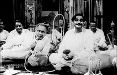 """A still from the 1958 film """"Jalsaghar"""" (The Music Room) directed by Satyajit Ray."""