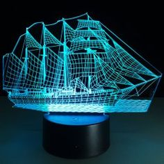 SHARE & Get it FREE   3D Sailing Ship Shape Touch Colorful Night LightFor Fashion Lovers only:80,000+ Items • New Arrivals Daily • Affordable Casual to Chic for Every Occasion Join Sammydress: Get YOUR $50 NOW!