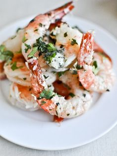 Roasted Basil Butter Parmesan Shrimp | How Sweet It Is