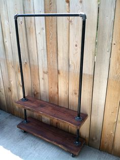 YES > Industrial Garment Rack II -Double Shelf (Made to Order). $300.00, via Etsy.