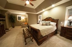 Master Suite in custom home by Tuskes Homes