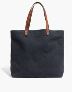 the madewell canvas transport tote : women totes Madewell Transport Tote, Madewell Tote, Hemnes, Best Diaper Bag, Diaper Bags, Looks Cool, Leather Handle, Fashion Bags, Women's Fashion