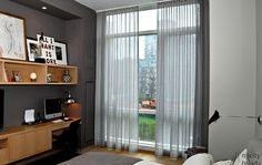 Sheer bedroom drapes