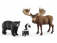 Habitants de la forêt Amérique du Nord Schleich #Schleich #figurine #jeu #jouet