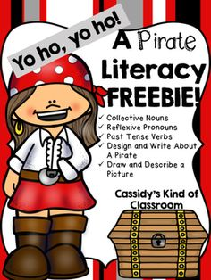 This sample of my Pirate Literacy Pack has the following resources:-Compound Cut and Paste-Paste Tense Verbs Find and Color-Describe Your Own Pirate with Adjectives, Verbs, and Adverbs-Write About Your Pirate Using the Descriptive Language-Find, Circle, and Write the Past Tense VerbsUse this to celebrate Talk Like a Pirate Day or to just enjoy a fun pirate themed unit.