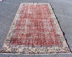 Turkish rug Oushak rug Vintage rug Turkey rug by turkishrugstar Black Rug, Vintage Rugs, Bohemian Rug, Turkey, Home Decor, Decoration Home, Black Carpet, Turkey Country, Room Decor