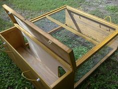 chicken coop (small) - this gives me an idea for an old wooden chest we have!