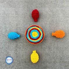 Crochet Water Balloons Using Bernat Blanket Stripes