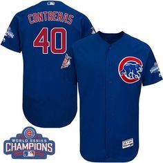 3d84a9885 Cubs #40 Willson Contreras Blue Flexbase Authentic Collection 2016 World  Series Champions Stitched MLB Jersey