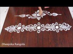 simple side border rangolis border kolams sides rangolis border rangoli designs - YouTube