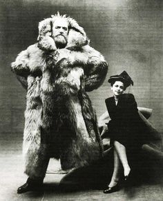 This is exactly how I feel about winter and it shows my poor wife's reaction.  Arctic explorer Peter Freuchen and his wife Dagmar Freuchen Gale by Irving Penn, 1947