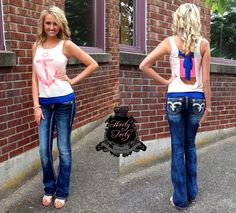 Anchor bow back Tank Top and those jeans!!!!  Those r the jeans I'm gonna own one day!!!!