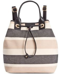 TOMMY HILFIGER Tommy Hilfiger Adrianna Canvas Backpack. #tommyhilfiger #bags #leather #canvas #backpacks #