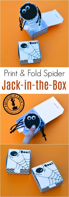 With this free printable template, kids can make a DIY Jack in the box from paper, whille learning a new engineering technique! A fun STEAM Halloween craft.