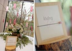 Do you hate the sound of clinking glasses? Here's a cute alternative idea: The Kissing Tree