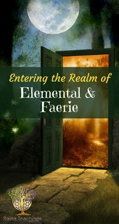 Enter the portal of the faeries & elementals, learn how to work with them personally and exactly what they are Wicca Witchcraft, Magick Book, Magick Spells, Pagan Witch, Witches, Celtic Druids, Hedge Witch, Nature Spirits, Spiritual Development