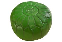 NULOOM Moroccan Pouf, Green
