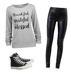 """casual outfir"" by mursitsanna on Polyvore featuring Helmut Lang and Converse"